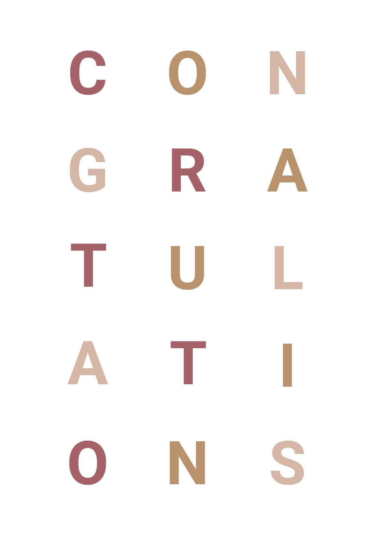 Congratulations nieuw
