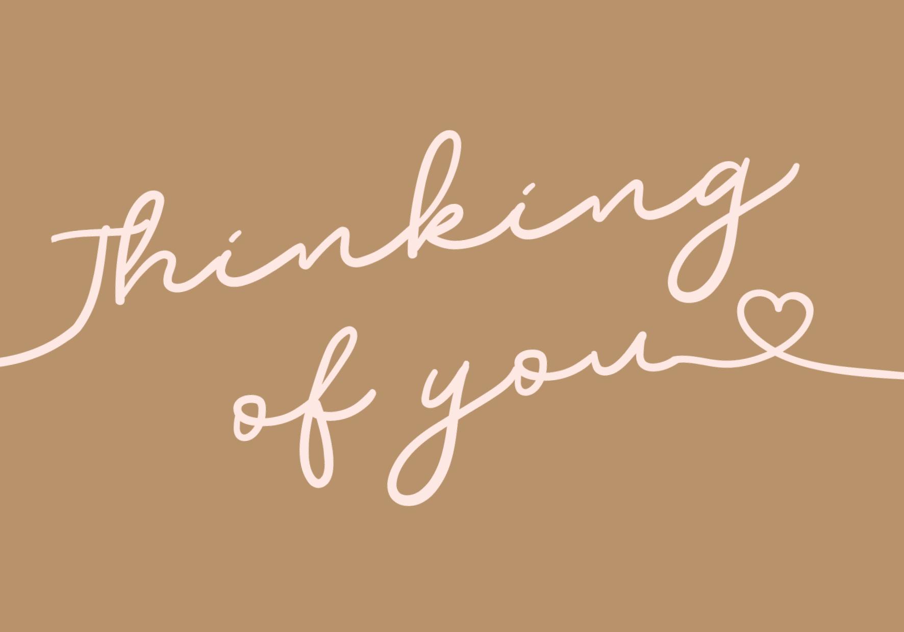 Thinking of you nieuw