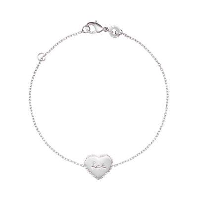 Beaded Heart Chain Bracelet