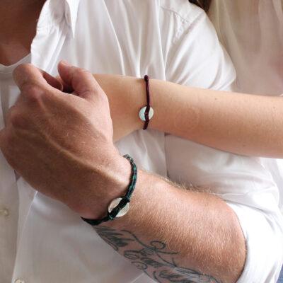 Mannen Open Disk Armband