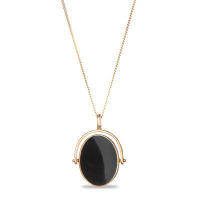 Black Onyx Twist Necklace