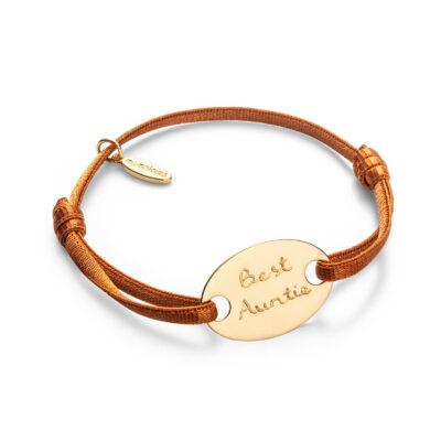 Oval Bracelet Satin Stretch