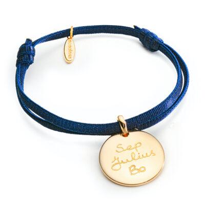 Coin Bracelet Satin Stretch