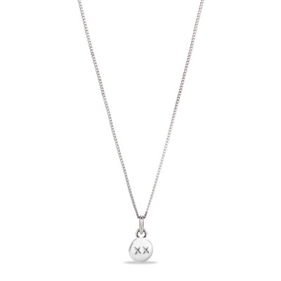 Tiny Charm Initial Necklace