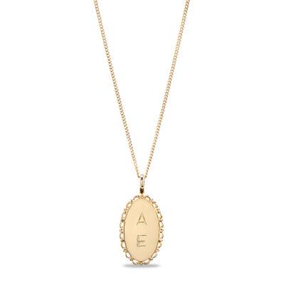 Vintage Oval Necklace