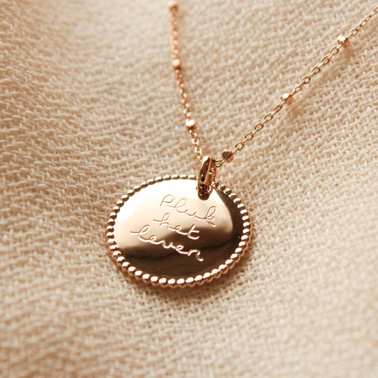 Beaded Coin Ketting